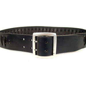 Banana Republic Accessories - BANANA REPUBLIC Wide Dual-Prong Leather Belt ITALY